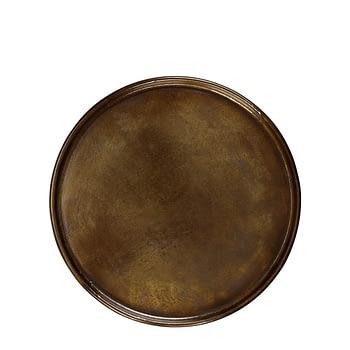 ZELDA under plate vintage brass