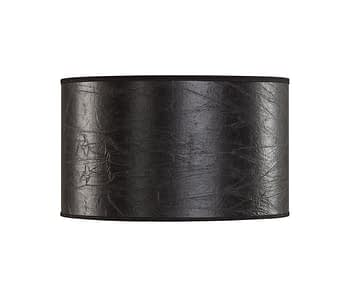 SHADE CYLINDER SMALL Leather black
