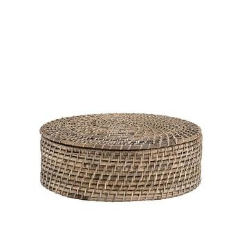 AMAZON bread basket w lid natural antique