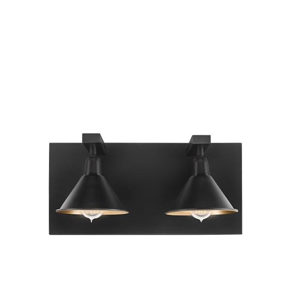 ANZIO Wall lamp double matt black