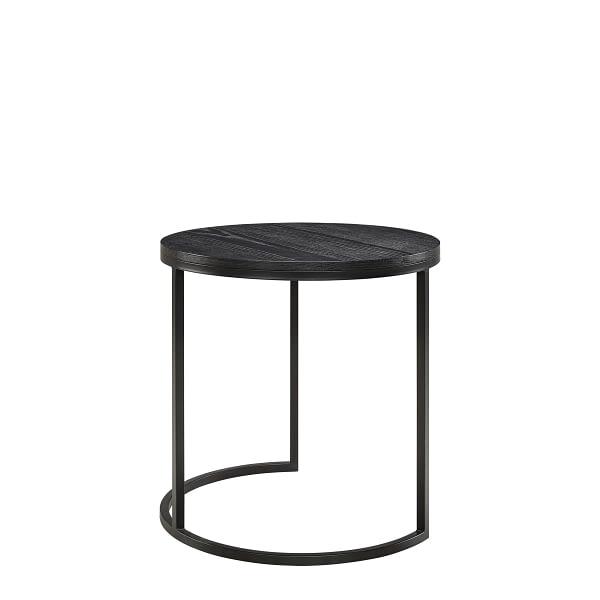 MASON side table round black oak