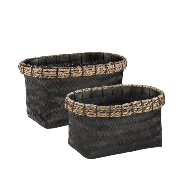 DAVAO Rect basket 2-set black