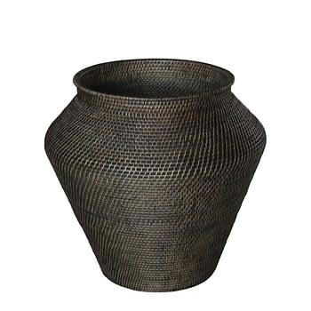 AW AMAZON snake basket L deep brown